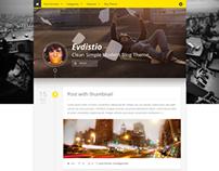 Evdistio - Responsive Clean Minimalist Blog Theme