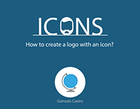 How to create a logo with an icon?