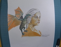 Game of Thrones - Speed Painting Mother of dragons
