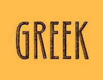 "Afiche Teatro // ""Greek"""