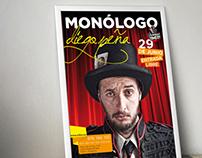 Cartelería  |  Monólogo Diego Peña