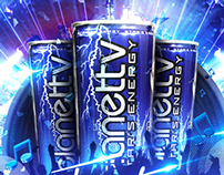 Gráfica Planettv Energy Drink — Video proceso Photoshop