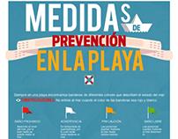 Medidas de prevención en la playa