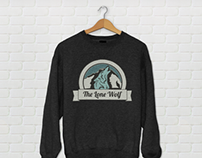The Lone Wolf: Sweater and logo.