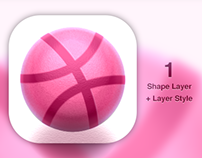 Dribbble Icon - Photoshop LayerStyle