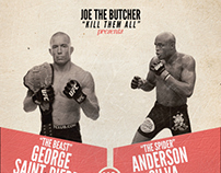 GSP vs Anderson Silva (fictional poster)