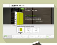 Closet configurator - responsive website