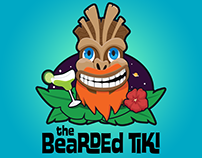 The Bearded Tiki Logo Design