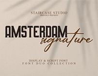 Amsterdam Signature Font Duo