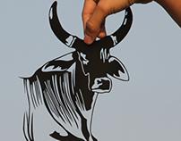 Papercut Art #35 - indian cow