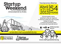 Startup Weekend - Univesidad de los Andes 2013