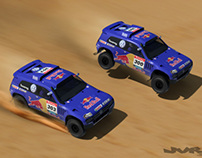 3D Race Car Scenes