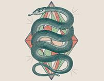 Twisted Snake T-Shirt Design