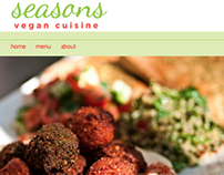 Seasons Vegan Cuisine Website