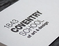 Coventry School of Art & Design branding