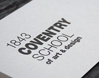 Coventry School of Art & Design branding