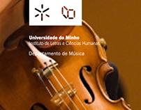Website for Dep. Música U. do Minho // UX/UI Design