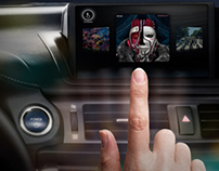 Gesture Motion In-Dash Car Music Player