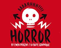 Horror, a new font by Ewen Prigent / La Boîte Graphique