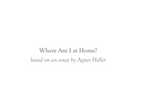"""Where Am I at Home?"" (2013)"