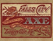Falls City Axe Label