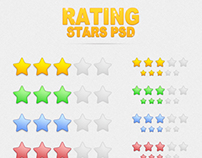 Rating Stars PSD