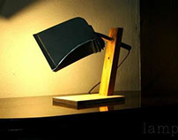 Dust pan table lamp