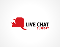 Live Chat Support Logo Design