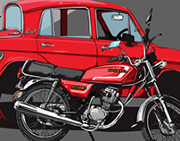 Mazda Carol 360 & Honda JX-110