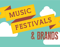 Festivals & Brands Infographic