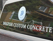 Dogfish Custom Concrete Branding