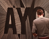 String Art.Set Design - Atlanta Youth Convention 2014