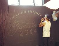 """""""helium inspires"""" chalk typography"""
