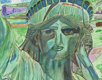 Statue of Liberty Water colors