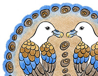 Icelandic Birds (crayons)