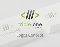 Triple One Dev Logos Concept