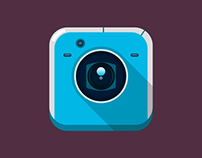 Flat Icon Design for Camera