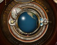Steampunk Rotating Earth Widget
