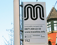Transport for Greater Manchester bus stop plates