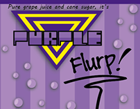 Purple Flurp! Label Design