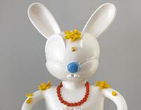 Blue Bubble Buddha Bunny