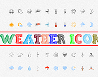 Hand Drawn Weather Vector Icon Set