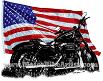 HARLEY DAVIDSON SPORTSTER motorcycle vector artwork