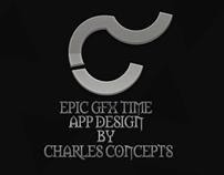 Epic GFX Time App Design