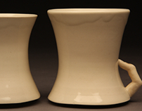 Cups and Jars with Finger Handles