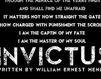 Invictus Poem Typographical Design