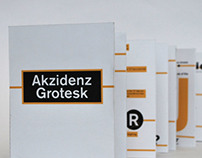 Akzidenz Grotesk Accordion Book