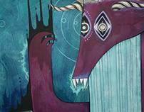 'Cosmic Monster' Mural for the Island, Bristol