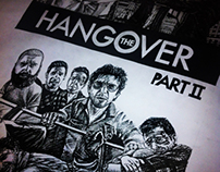 The Hangover Film Poster illustration - Rapido
