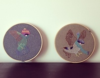Aves Bordadas